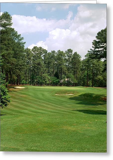 Square Image Greeting Cards - Golf Course At Pinehurst Resort Greeting Card by Panoramic Images