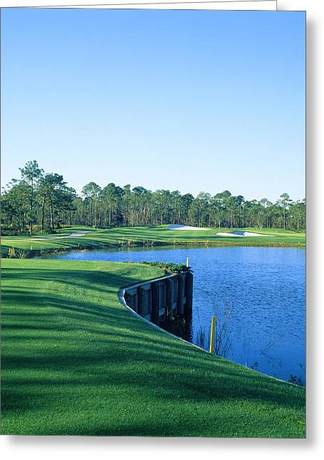 Destin Greeting Cards - Golf Course At The Lakeside, Regatta Greeting Card by Panoramic Images