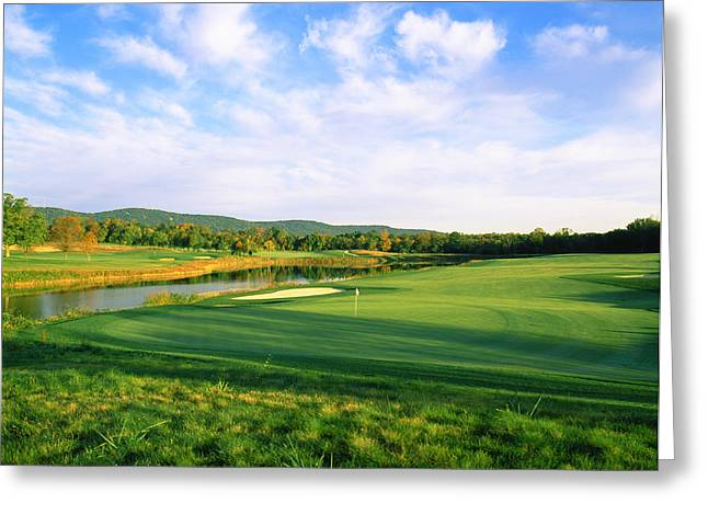 Club Scene Greeting Cards - Golf Course, Bull Run Golf Club Greeting Card by Panoramic Images