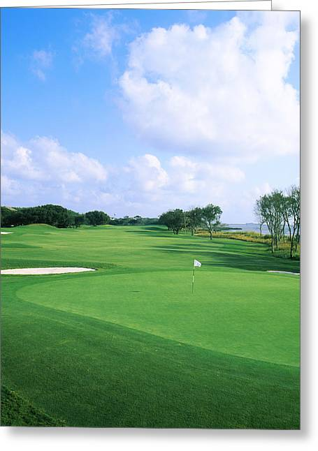 Club Scene Greeting Cards - Golf Course, Currituck Club, Corolla Greeting Card by Panoramic Images