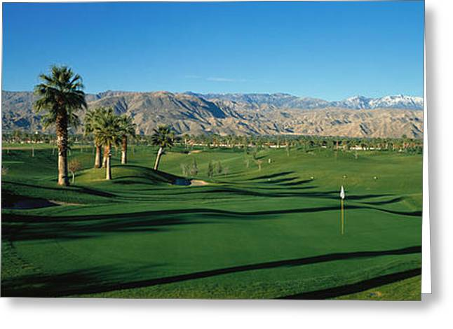 Mountain Valley Greeting Cards - Golf Course, Desert Springs Greeting Card by Panoramic Images