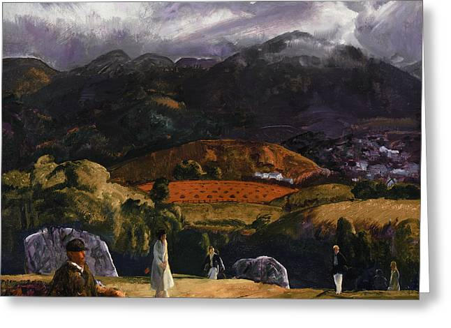 Californian Greeting Cards - Golf Course Greeting Card by George Wesley Bellows