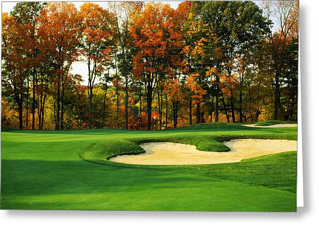 Club Scene Greeting Cards - Golf Course, Great Bear Golf Club Greeting Card by Panoramic Images