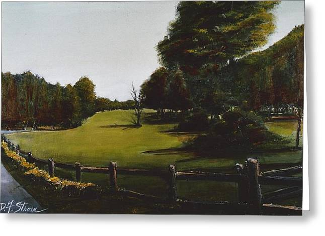 South Boston Prints Greeting Cards - Golf Course in Duxbury MA Greeting Card by Diane Strain