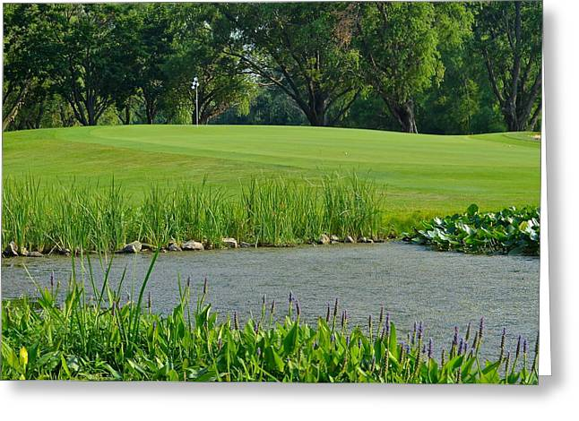 Watson Lake Greeting Cards - Golf Course Lay Up Greeting Card by Frozen in Time Fine Art Photography