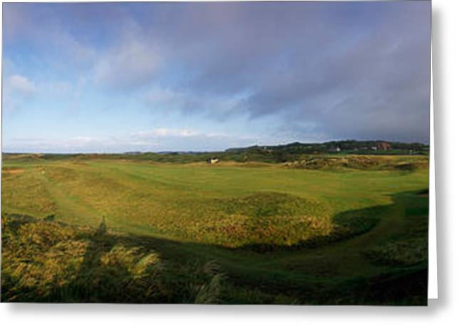 Peaceful Scene Greeting Cards - Golf Course On A Landscape, Royal Troon Greeting Card by Panoramic Images
