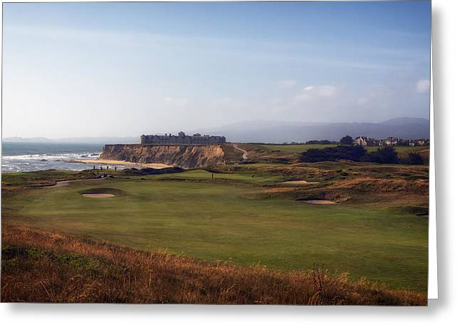 Half Moon Bay Greeting Cards - Golf Course on Half Moon Bay Greeting Card by Mountain Dreams