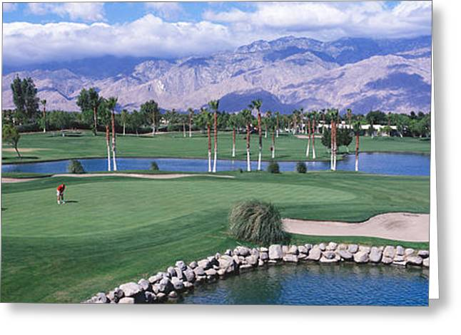 Putt Greeting Cards - Golf Course, Palm Springs, California Greeting Card by Panoramic Images