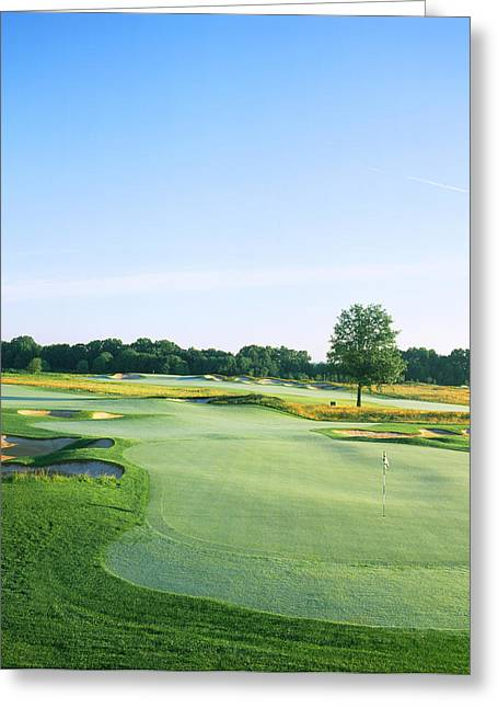 Club Scene Greeting Cards - Golf Course, Royce Brook Golf Club Greeting Card by Panoramic Images