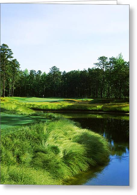 Urban Images Greeting Cards - Golf Course, Sand Barrens Golf Club Greeting Card by Panoramic Images