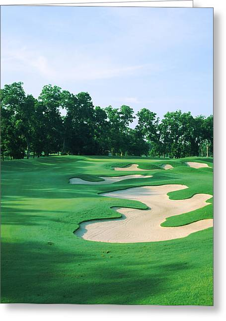 Hawk Hill Greeting Cards - Golf Course, Shadow Hawk Golf Club Greeting Card by Panoramic Images