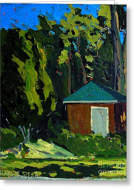 Golf Course Shed Series No.19 Greeting Card by Charlie Spear