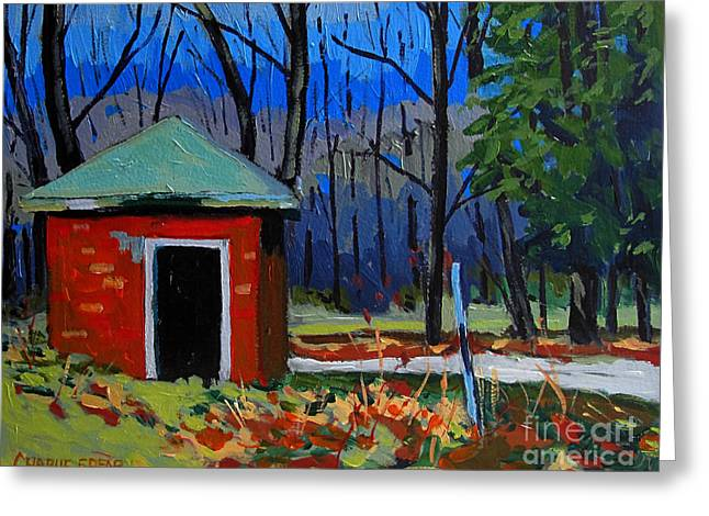 Golf Course Shed Series No.3 Greeting Card by Charlie Spear