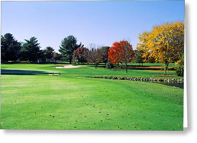 Club Scene Greeting Cards - Golf Course, Westwood Country Club Greeting Card by Panoramic Images