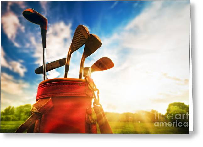 Professional Golf Greeting Cards - Golf equipment  Greeting Card by Michal Bednarek