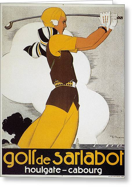 Sportswoman Greeting Cards - Golf, Female, 1930 Greeting Card by Granger