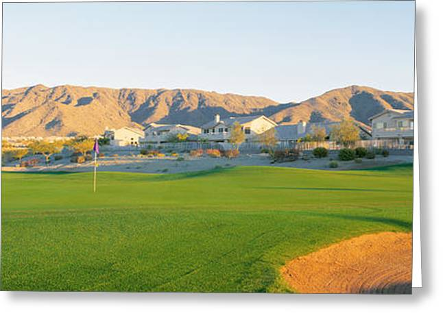 Phoenix Architecture Greeting Cards - Golf Flag In A Golf Course, Phoenix Greeting Card by Panoramic Images