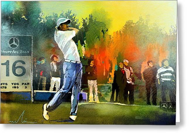 Europe Mixed Media Greeting Cards - Golf in Gut Laerchehof Germany 01 Greeting Card by Miki De Goodaboom