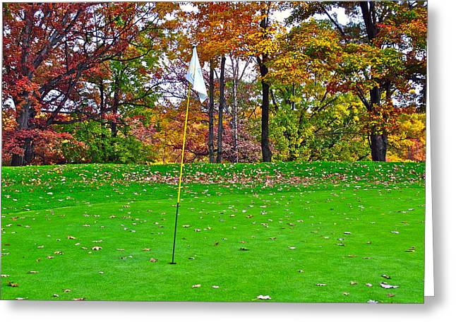 Golf My Way Greeting Card by Frozen in Time Fine Art Photography