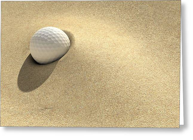 Obstacles Greeting Cards - Golf Sand Trap Greeting Card by Allan Swart