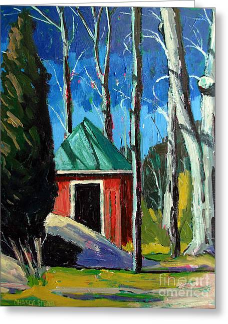 Outbuildings Greeting Cards - Golf Shed series No.12 Greeting Card by Charlie Spear