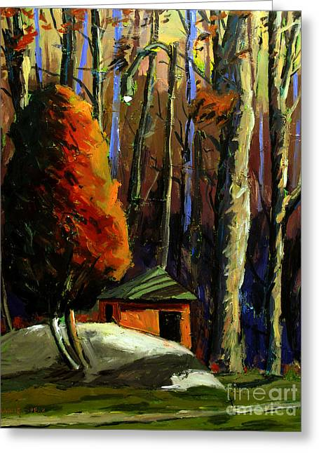 Shed Paintings Greeting Cards - Golf  Shed series No16 Greeting Card by Charlie Spear