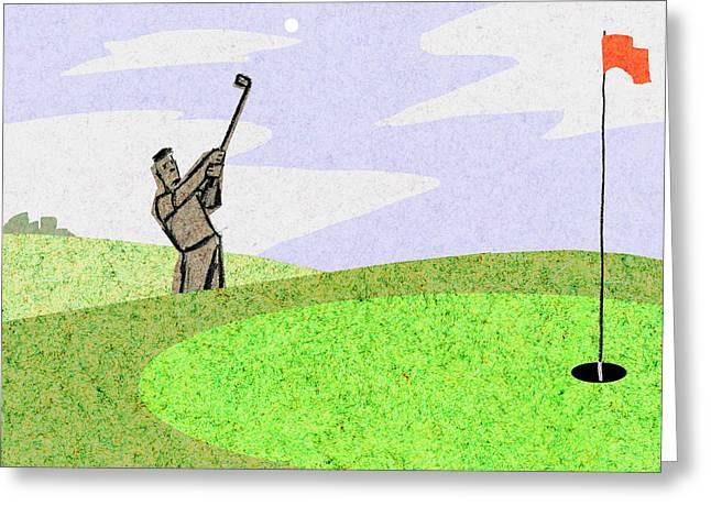 Golf Greeting Card by Steve Dininno