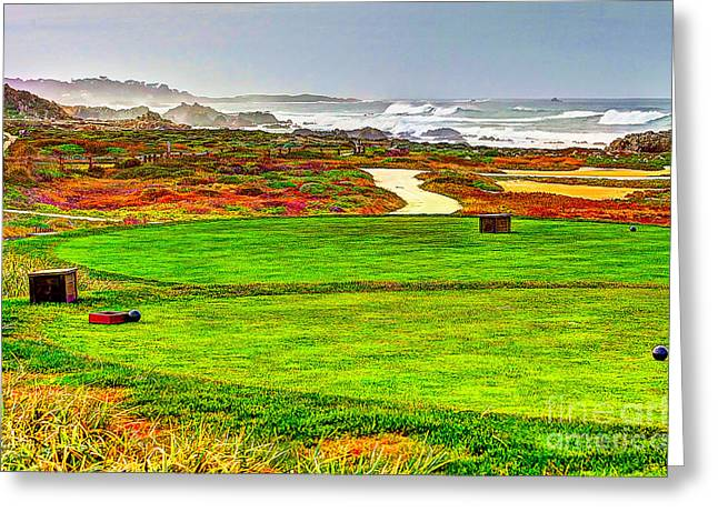 Golf Tee At Spyglass Hill Greeting Card by Jim Carrell
