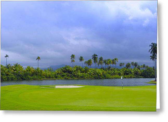 Tropical Golf Course Greeting Cards - Golfers Paradise Greeting Card by Stephen Anderson