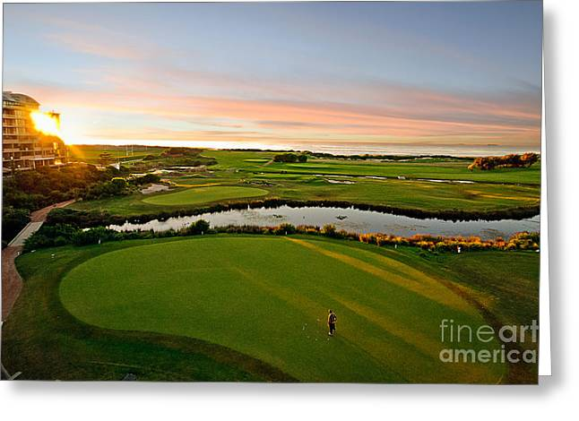 Beautiful Golf Course Greeting Cards - Golfing at the Gong III Greeting Card by Ray Warren