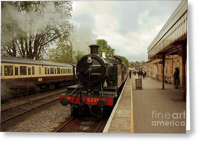 Terri Waters Greeting Cards - Goliath the Engine and Anna Greeting Card by Terri  Waters