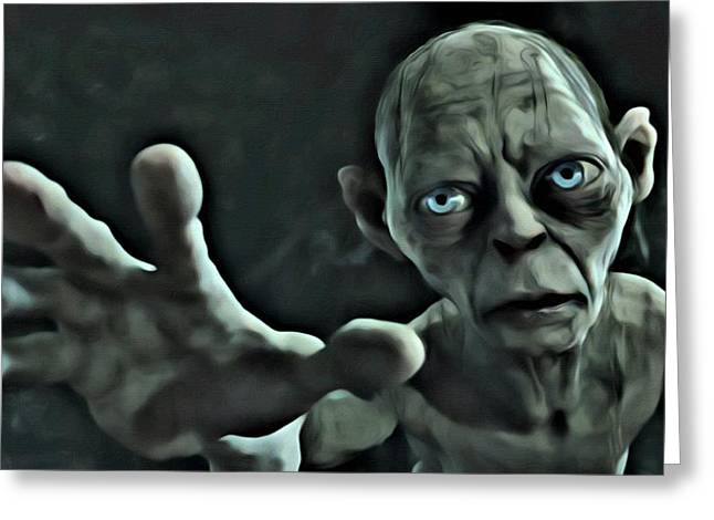 Lord Of The Rings Greeting Cards - Gollum Greeting Card by Florian Rodarte