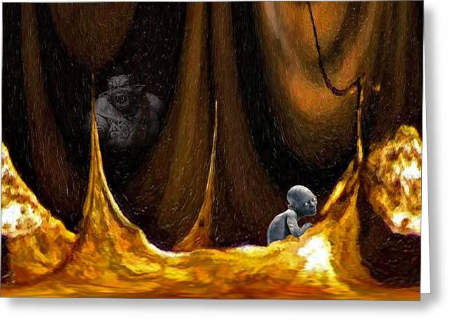 Gollum Shows the Way Greeting Card by Steve Harrington