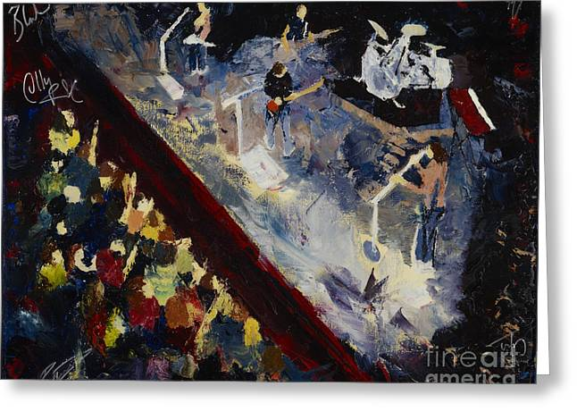 Autographed Paintings Greeting Cards - Gomez Greeting Card by Stuart Engel
