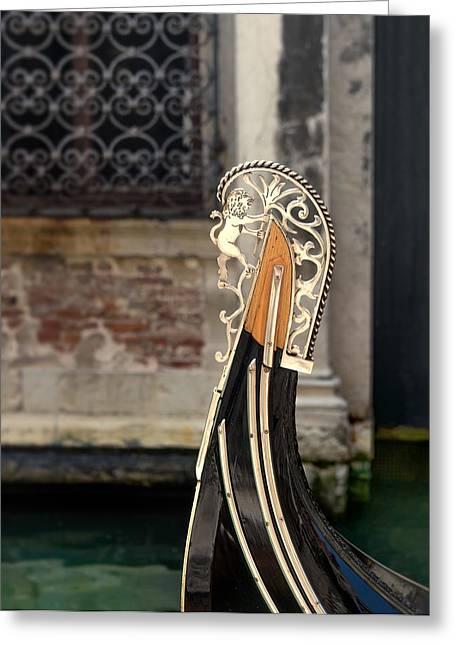 Venecia Greeting Cards - Gondola Greeting Card by A Rey