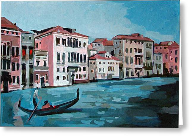 Original By ist Paintings Greeting Cards - Gondola Greeting Card by Filip Mihail