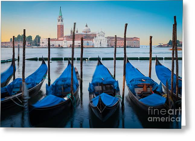 Architectural Landscape Greeting Cards - Gondola Mattina Greeting Card by Inge Johnsson