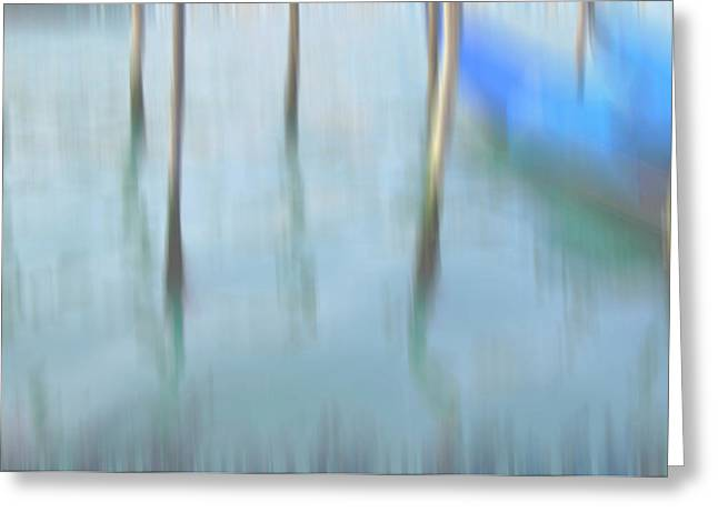 Venice Travel Greeting Cards - Gondola poles Greeting Card by Marion Galt