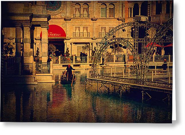 Beautiful Scenery Greeting Cards - Gondola Ride Greeting Card by Maria Angelica Maira