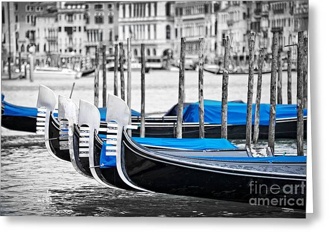 Boat Cruise Greeting Cards - Gondolas Greeting Card by Delphimages Photo Creations