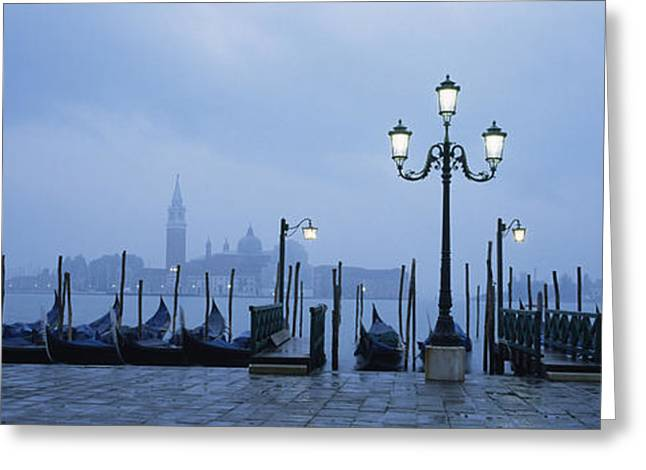 Canale Greeting Cards - Gondolas In A Canal, Grand Canal, St Greeting Card by Panoramic Images