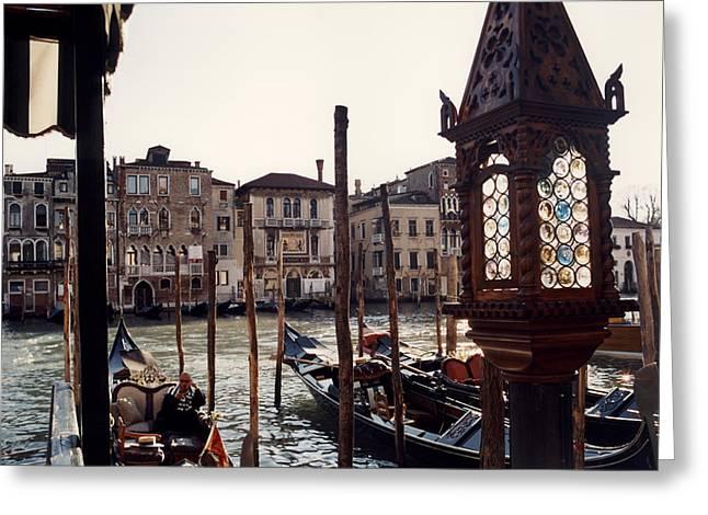 Gondoliere Greeting Card by Riccardo Mottola