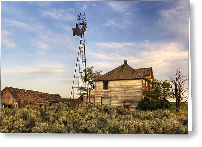 Sagebrush Greeting Cards - Gone But Not Forgotten Greeting Card by Mark Kiver
