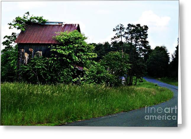 Shed Digital Art Greeting Cards - Gone But Not Forgotten Greeting Card by Nancy E Stein