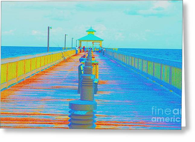 Beach Pastels Greeting Cards - Gone Fishing Greeting Card by Dan Hilsenrath
