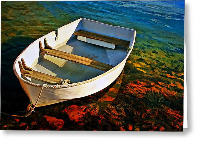 Maine Landscape Greeting Cards - Gone Fishing Greeting Card by Marcia Colelli