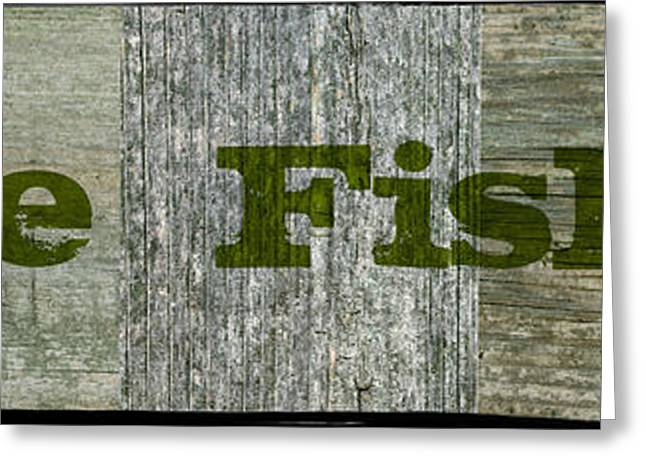 Country Cottage Mixed Media Greeting Cards - Gone Fishing Greeting Card by Michelle Calkins