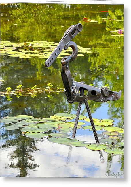 Fishing Sculptures Greeting Cards - Gone Fishing Greeting Card by Ric Pollock