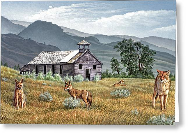 Gone To The Dogs Greeting Card by Paul Krapf