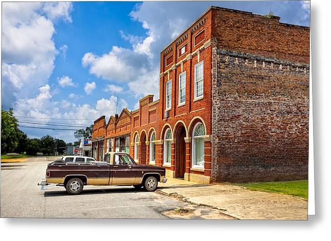 Chevrolet Pickup Truck Greeting Cards - Gone To Town - Main Street - Rural Georgia Towns Greeting Card by Mark Tisdale
